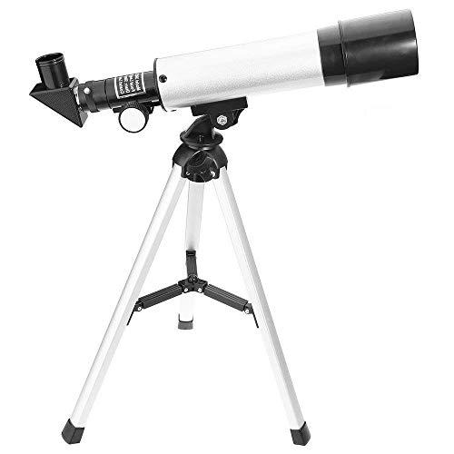 Telescopio astronómico refractor monocular HD con zoom de 90X portátil y con trípode. Para niños y principiantes