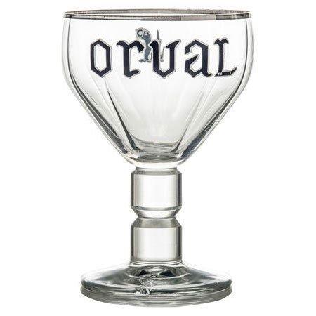 Hose Orval Belgische Silber mit Rand Bier Kelch