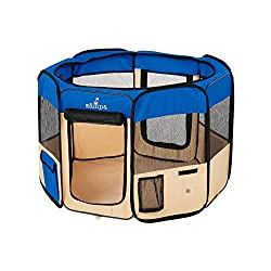 Zampa Foldable Portable Pet Playpen