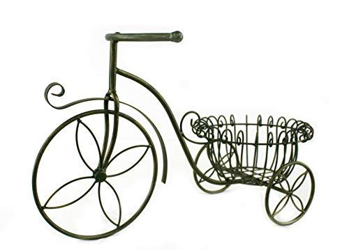 DARO DEKO Metall Blumen Fahrrad 60cm x 37cm