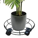 TOMHY Mit Rollen Blumentopf Tray Räder 360 Grad-Anlage Heim Eisen verfahrbare Gestell Bonsai Rundregal Lagerung Stand: China, S