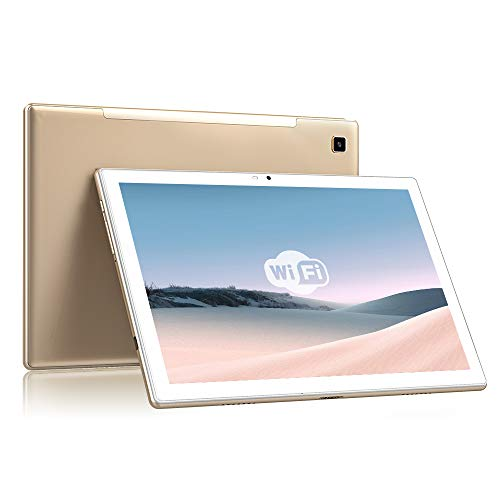 Blackview Tab8E Tablet 10.1 Pulgadas Android 10 5G WiFi, 3GB RAM+32GB ROM(128GB Expandible) FHD+ 1960 * 1200 Rsolución 5MP+13MP Cámara Octa-Core 1.6GHz, 6580mAh Batería Bluetooth/OTG-Oro