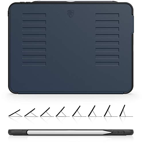 The Muse Case - 2018 iPad Pro 11 inch 1st Gen (Old Model) - Very Protective But Thin + Convenient Magnetic Stand + Sleep/Wake Cover - ZUGU CASE - Navy Blue (Fits Model #