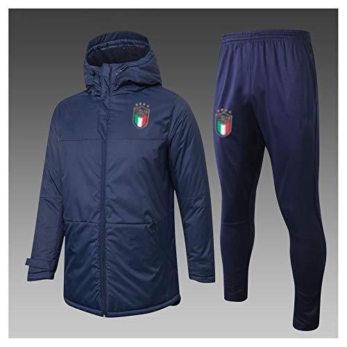caijj Neue Herren Fußball Uniform Geschenk Baumwolle Kleidung Fußball kältesicher Fußballfan kältesicher Anzug Fußball Hoodie männlich-B17-XL
