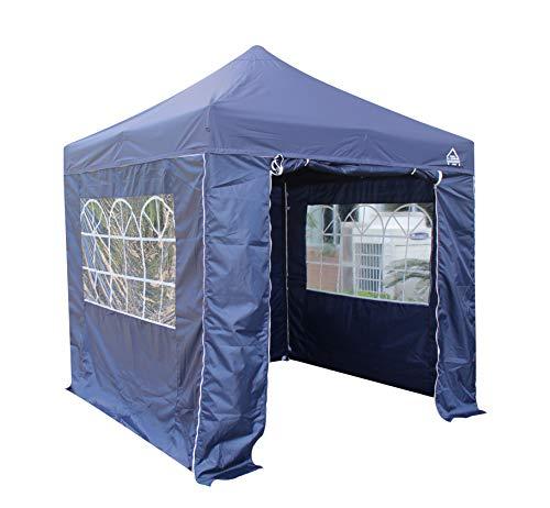 All Seasons Gazebos 2.5 x 2.5m Heavy Duty, Fully Waterproof Pop up Gazebo With 4 Side Walls (Navy Blue)