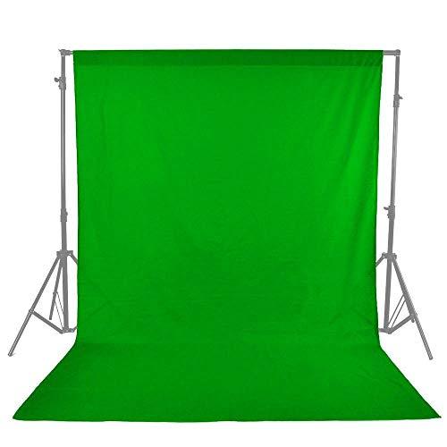 Aihome 単色 布バック グリーン 撮影用背景布 グリーンバック クロマキーグリーン (3×2.7m)