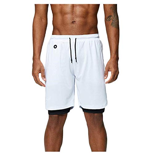 Cramberdy Herren Sport Shorts Schnelltrocknend Kurze Hosen Laufhose mit Taschen Leicht Atmungsaktiv für Männer Running Outdoor Fitness Training Jogging Marathon Sommer Casual Shorts Herren Laufsport