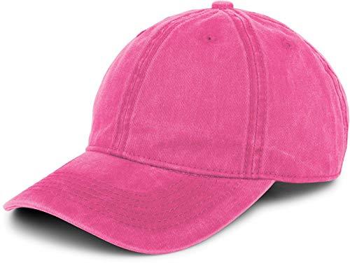 styleBREAKER 6-Panel Vintage Cap im Washed Used Look, Basecap, Baseball Cap, verstellbar, Unisex 04023054, Farbe:Pink