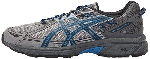 ASICS Mens Gel-Venture 6 Running Shoe, Aluminum/Black/Directoire Blue, 9 Medium US