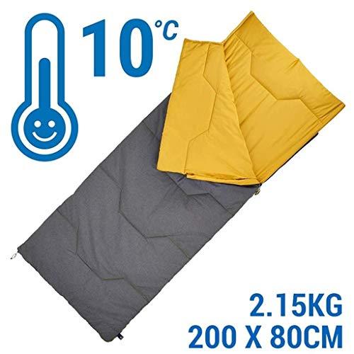 BABY Sac de Couchage de Voyage Portable Camp intérieur Sauvage en extérieur, Adulte Chaud (Color : Yellow)