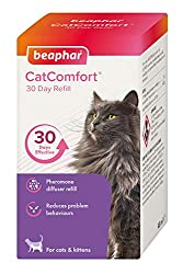 Refill for Beaphar CatComfort contains pheromones; which are clinically proven to reduce problem behaviour Promotes feelings of reassurance and wellbeing Calms without sedating Lasts 30 days with continual use