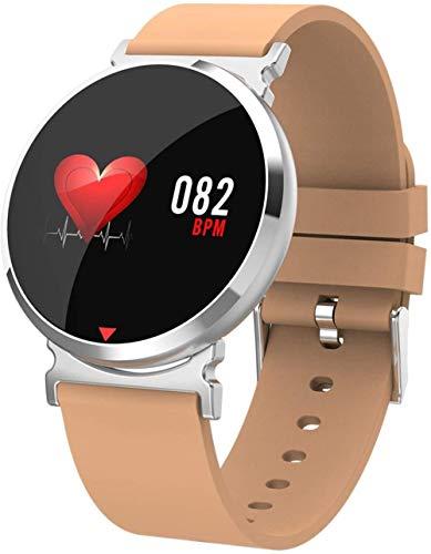 Pulsera inteligente impermeable para monitorizar el sueño con mensaje de recordatorio de pulsera deportiva (color: negro)-naranja