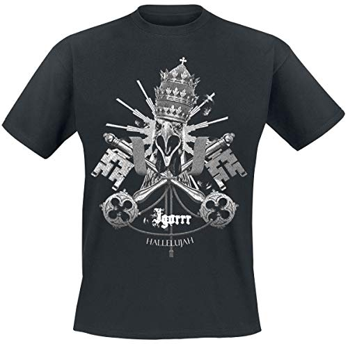 Igorrr Vatikan Männer T-Shirt schwarz L 100% Baumwolle Band-Merch, Bands, Nachhaltigkeit