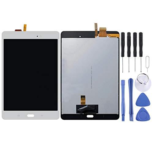un known Reemplazo extraíble para Galaxy Tab A 8.0 (versión WiFi) / Pantalla LCD P350 y Accesorios de ensamblaje de digitalizador. (Color : White)