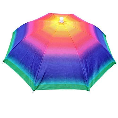 TOMMY LAMBERT Regenschirm Regenhaube Hut Schirm Im Freien Angeln Schirmmütze Taschenschirme Stockschirme Elastisches Stirnband Hut Regenschirm 55cm