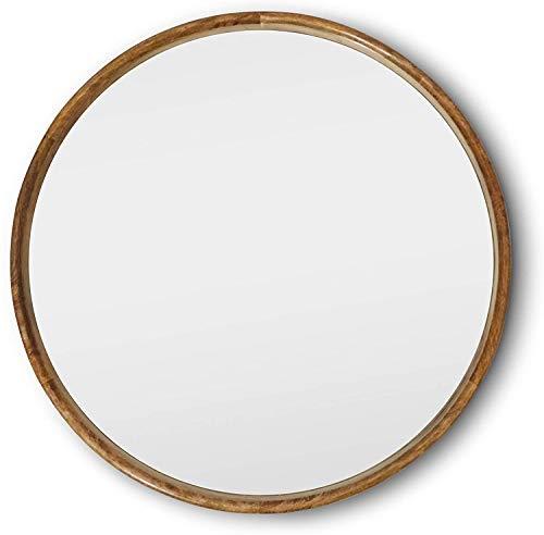 Wooden Rimmed Wall Mirror