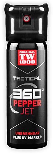 KOSxBO® Original Behörden Pfefferspray TW1000 Tactical Pepper Jet Classic 45ml - Sprühstrahl Strahl mit UV-Marker - Selbstverteidigung - Tierabwehr