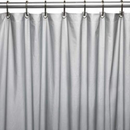 DINY Bath Elements Heavy Duty Magnetized Shower Curtain Liner (Silver)