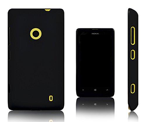 Xcessor Vapour Custodia di TPU Gel Flessibile per Nokia Lumia 520/525 (Compatibile con Tutti i Modelli Nokia Lumia 520). Nero