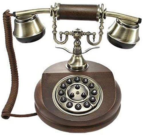 Antikes Telefon 1913 BRAUN Handarbeit Holz + Messing