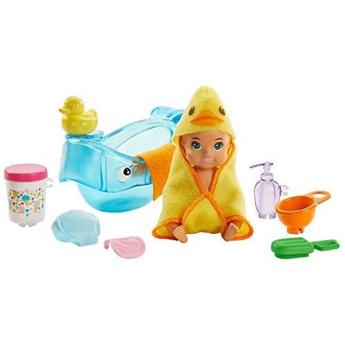 Barbie- Playset Pappa e Bagnetto con Bambola Bebè Cambia Colore e Accessori Giocattolo per Bambini 3+ Anni, GHV84