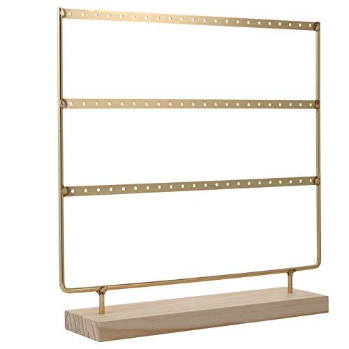 Cabilock Soporte dorado para pendientes de 3 niveles, para colgar pendientes, anillos, etc. 🔥