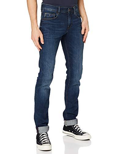 Tommy Hilfiger Herren Core Denton Straight Jean Straight Leg Jeans, Blau (New Dark Stone 919), W36/L30
