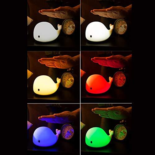 XKMY Luz de noche LED 1 unid bebé habitación LED noche luces ballena dibujos animados noche luz niños dormitorio mesa dormir lámparas niños Navidad lámpara regalo