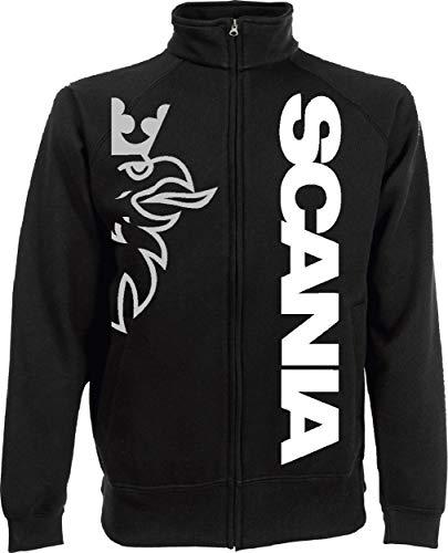 Generico Giacchino Scania Vabis Camion tir lkv Holland Style Sweat Jacket(XXL, Nero)