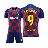 Camiseta de fútbol para niños Set-9# Suárez Camiseta de Atleta Adolescente Ropa Deportiva Malla de Secado rápido Camiseta de Manga Corta para fanáticos-XS