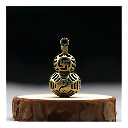 YUNGYE Copper Hohl Kürbis Schlüsselanhänger Chinesischer glückliches Auto Keychain hängender Anhänger Schmuck Retro Messing-Mädchen-Rucksack-Dekoration-Geschenk (Color : Vintage Gourd)