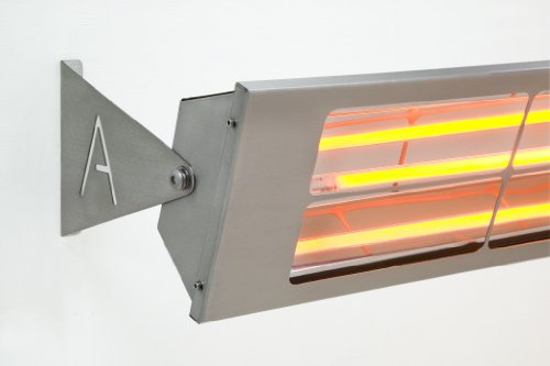 Alfresco Heizstrahler – ALF80 Doppelelement mit 156 cm Länge, mittelwelliger elektrischer Infrarot- Heizstrahler mit 8 Kilowatt - 2