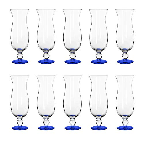 16 oz. Libbey Hurricane Glasses - 10 pack - Blue