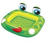 LHY BATHLEADER Planschbecken Für Kinder, Aufblasbare Pool, Babypool des Grünen Frosches, Sommer Kinderunterhaltung, Spiele, 128 * 110Cm