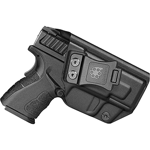 Amberide IWB KYDEX Holster Fit: Springfield XD MOD.2-3' Sub-Compact 9MM / .40S&W Pistol | Inside Waistband | Adjustable Cant | US KYDEX Made (Black, Right Hand Draw (IWB))