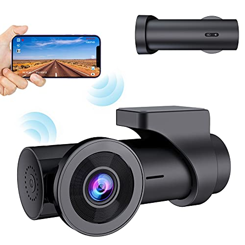 【2021 Nouvelle Version】 CHORTAU Dashcam Voiture WiFi Full HD 1080P, Caméra Embarquée Voiture sans Écran Grand Angle 170°,Dash Cam avec Enregistrement en Boucle,Moniteur de Stationnement