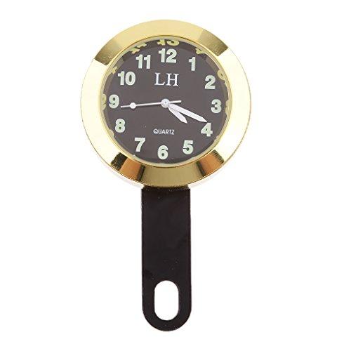 Sharplace Wasserdicht Lenker Uhr Mount Uhren Motorraduhr Mini Lenker Uhr Zifferblatt Uhr - Gold