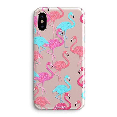 iPhone XR Women Case,Aloha Summer Beach Hipster Women Pink Fashion Flamingos Colorful Cute Tropical Pink Animal Bird Girls Spring Hawaii Funny Design Clear Soft Case Compatible for iPhone XR