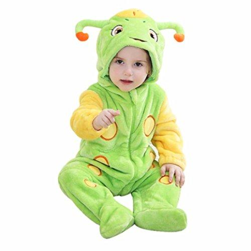 Katara 1778 Costume Coleottero Neonati Bambini Tuta Kigurumi Animale Pigiama Intero con Cappuccio Bambino 0-6 Mesi
