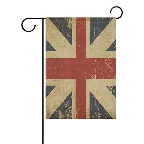 BIT Britische Seefahrt-Flagge, Polyester-Gartenschild, interessante kleine Citi, doppelseitig, Innenhofdekoration, vier Jahreszeiten, Terrassen-Rasen-Schild, 32,5 x 45,7 cm