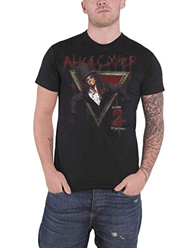 Générique Alice Cooper Welcome to My Nightmare T-Shirt, Noir, (Taille Fabricant: X-Large) Homme