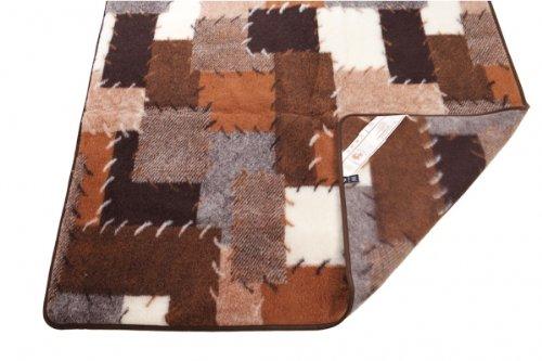 Wolldecke, Schurwolle Decke, Tagesdecke, Wollplaid Patchwork, 100prozent Merinowolle Größe: 135x200