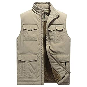 Men's Outdoor Casual Stand Collar Padded Vest Coat