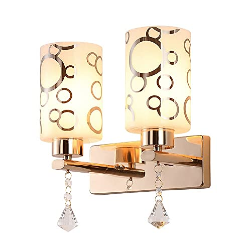 BHJH7 Aplique de pared de 2 luces, lámpara de pared de oro rosa, apliques de pared decorativos modernos para el hogar, iluminación de tocador de baño de mediados de siglo, para dormitorio, sala de est