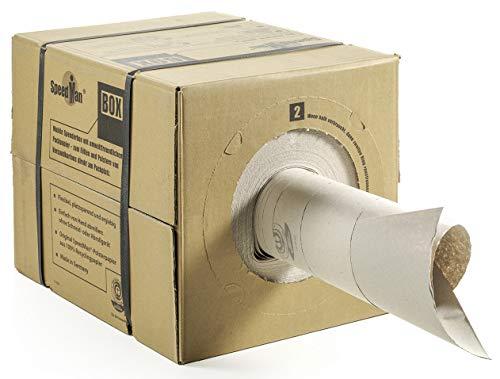 SpeedMan Box Packpapier, Umweltfreundliches Verpackungspapier, flexibele Spenderbox, 2 St.