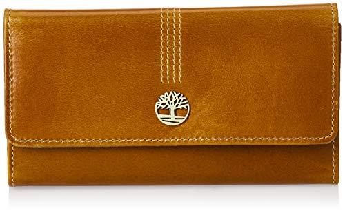 Timberland Women s Leather RFID Flap Wallet Clutch Organizer, Cognac (Buff Apache), One Size