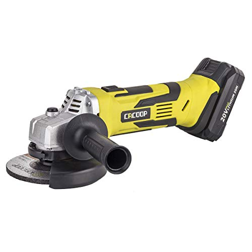 CACOOP 20V 4-1/2'' 5'' Cordless Angle Grinder,Power Handheld Portable Angle Grinder with Lithium Battery and Charger