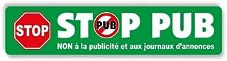 1 autocollant stickers Vert Stop Pub Pas de Publicité Boîte aux lettres La Poste Anti Spam