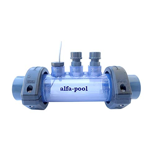 alfa-pool Messzelle PVC 2 Elektrodenhalter Strömungsschalter 1A Klebemuffen D50mm Durchflussarmatur