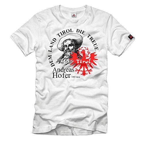 Dem Land Tirol die Treue Andreas Hofer Österreich Südtirol Heimat T-Shirt#33538, Größe:XL, Farbe:Weiß
